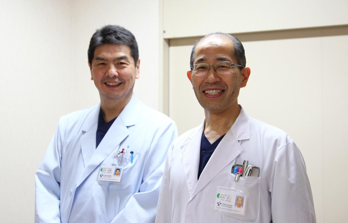 心臓血管外科 金田部長、長阪副部長